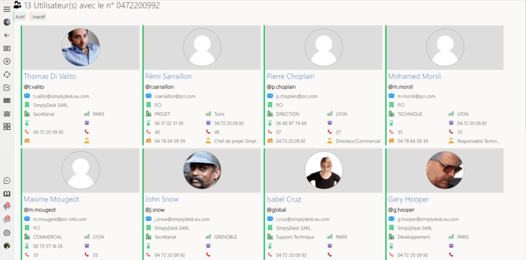 outil helpdesk CTI - couplage téléphonique informatique