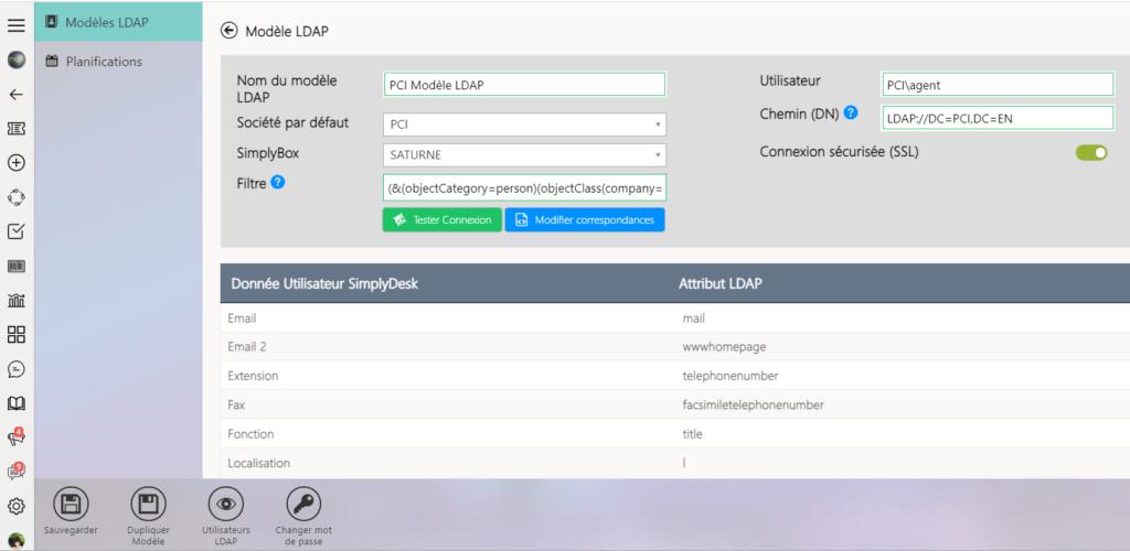 outil helpdesk Lien avec l'Active Directory